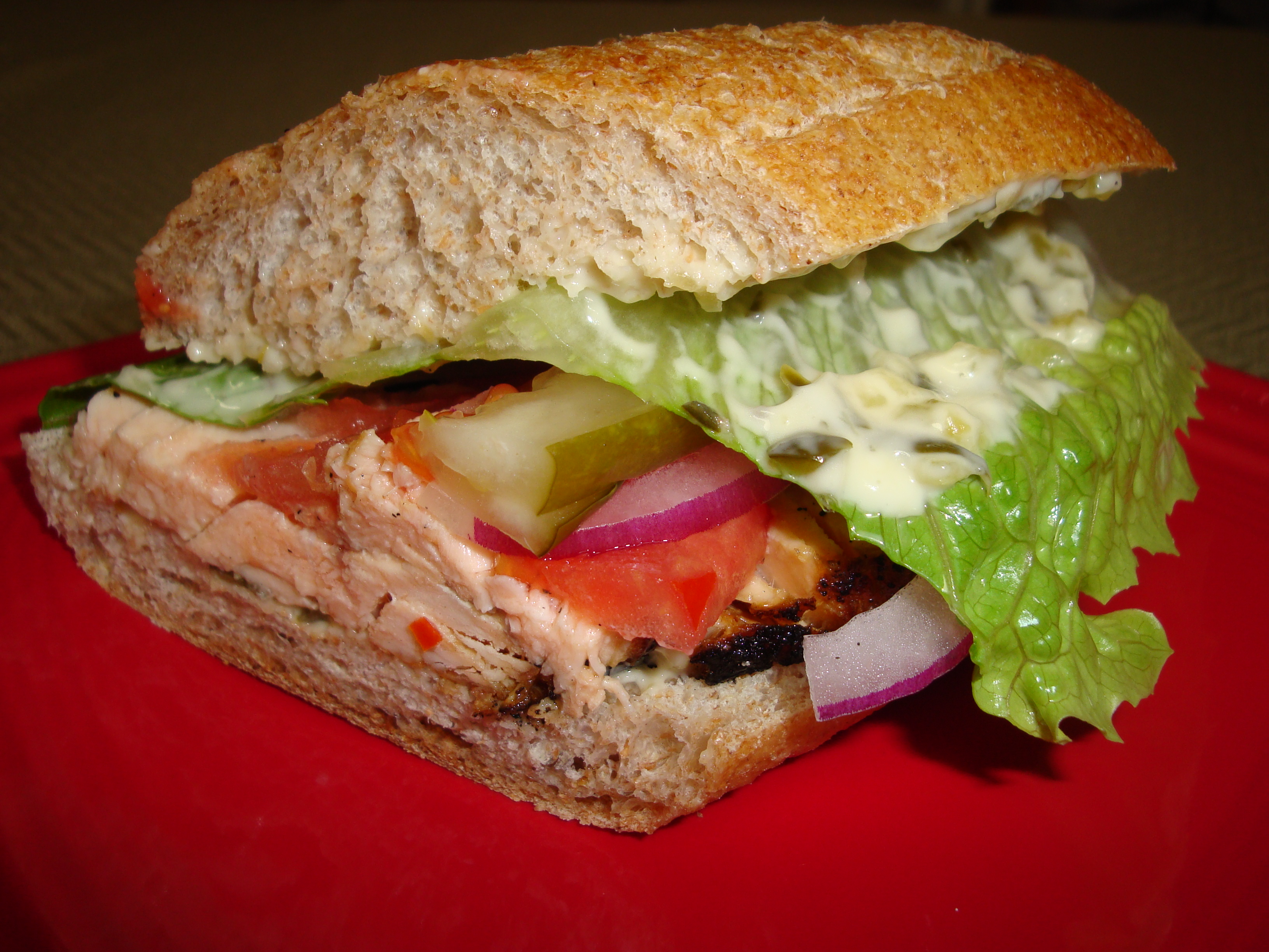 California Central Coast-Inspired Grilled Salmon Sandwich ...